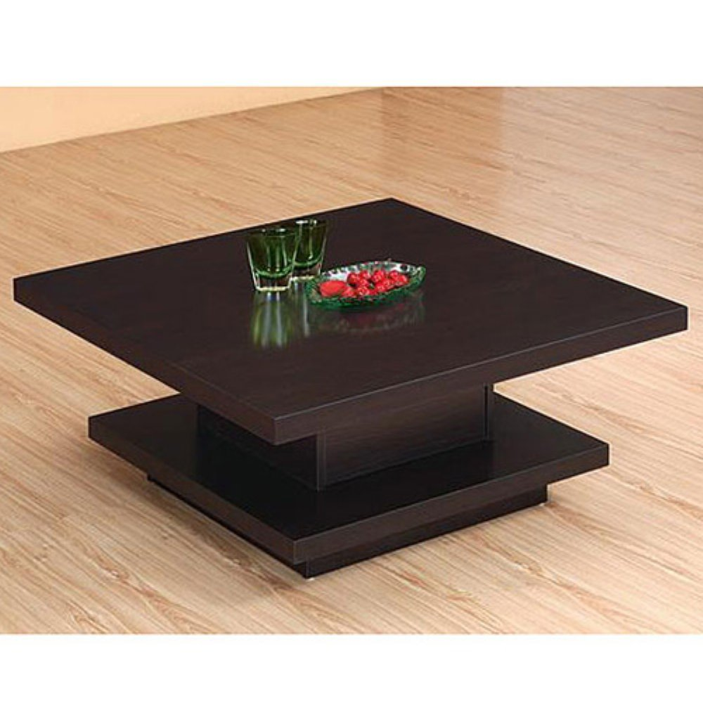 Modern Square Coffee Table Wood
