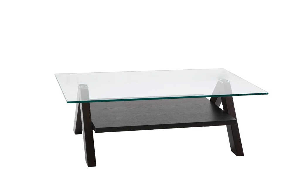Picture of: Modern Tempered Glass Coffee Table