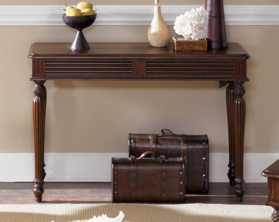 Image of: Natural Cherry Sofa Table