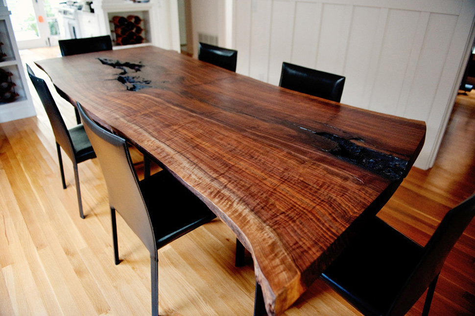 Image of: Natural Wood Slab Tables