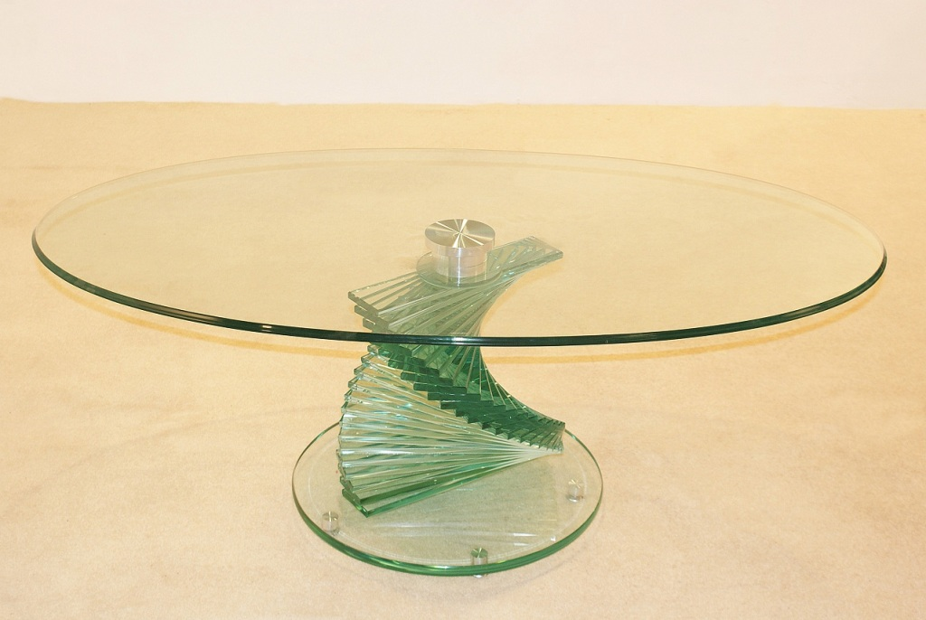 Image of: New Oval Glass Coffee Table