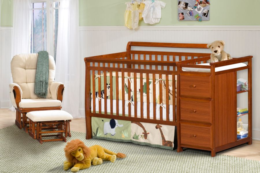 Image of: Nice Cribs With Changing Table Combo