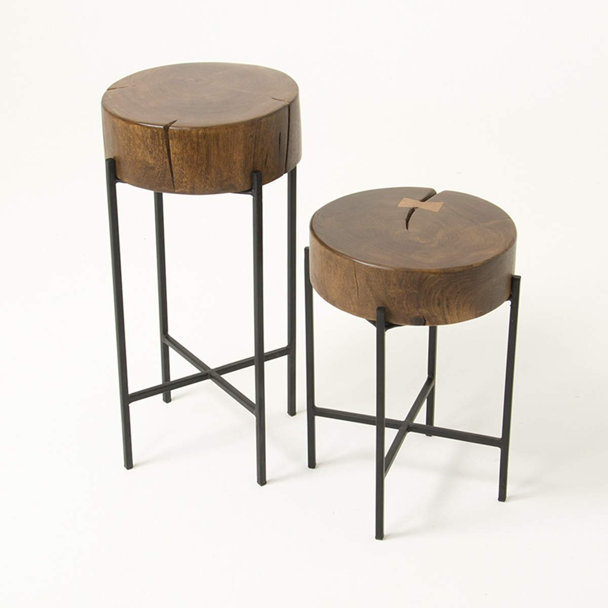 Image of: Organic Round Nesting Tables