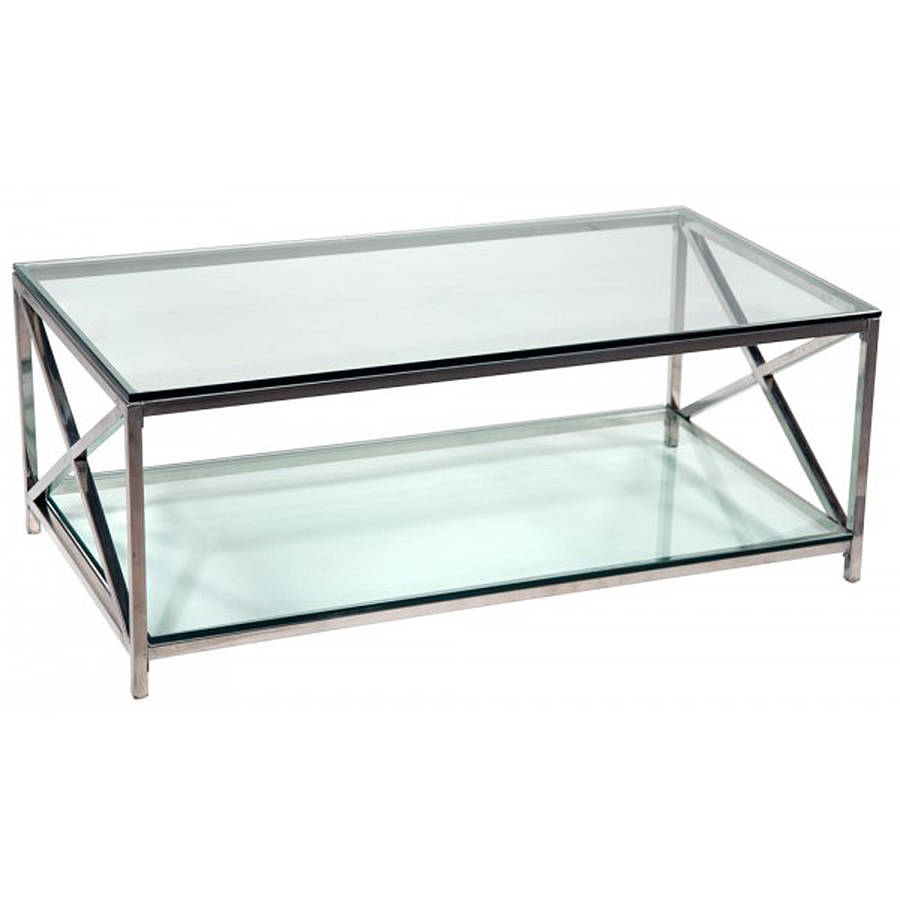 Picture of: Original Chrome and Glass Coffee Table