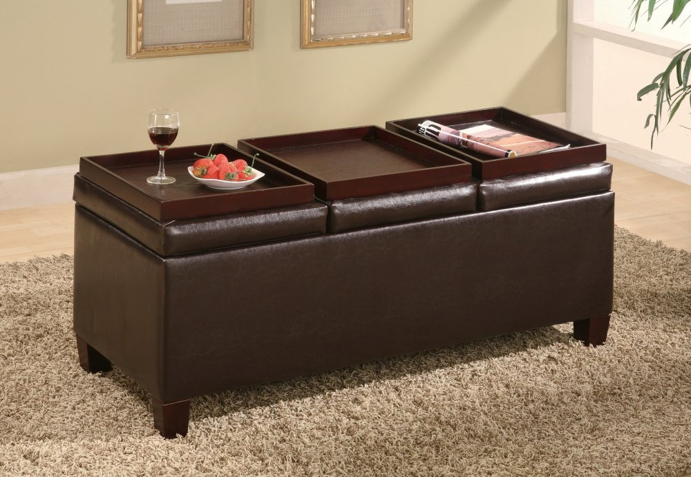 Ottomans Coffee Table With Brown