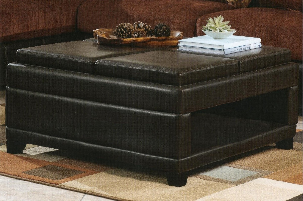 Picture of: Ottomans Coffee Table with Storage