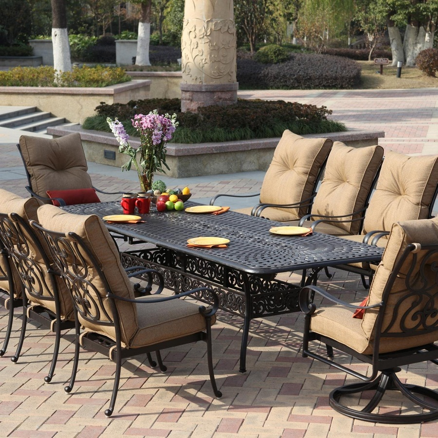 Image of: Outdoor Patio Dining Table Sets