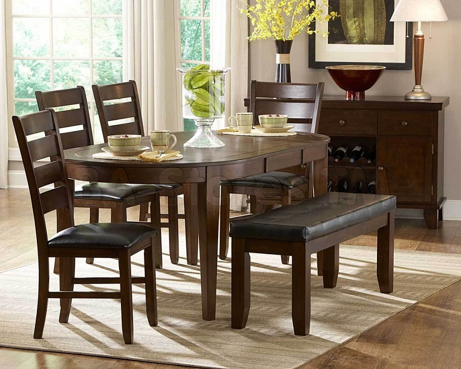 Image of: Oval Dining Table with Leaf Sets
