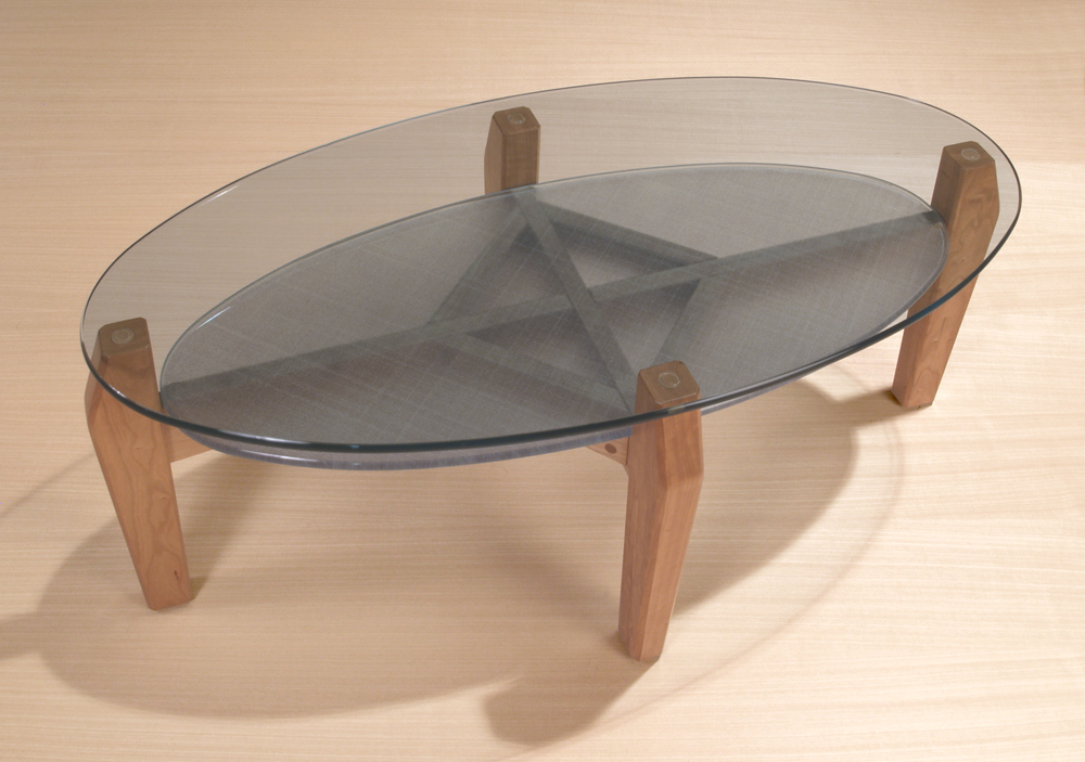 Image of: Oval Glass Coffee Table Design
