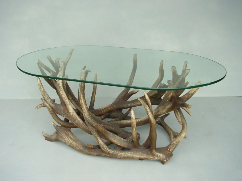 Image of: Oval Glass Coffee Table Style