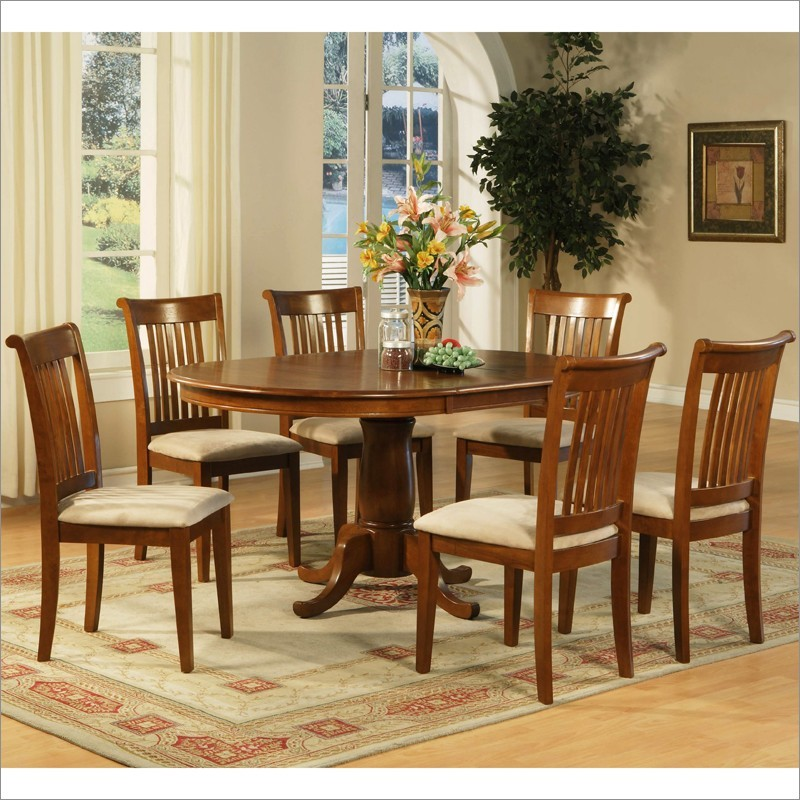 Picture of: Oval Pedestal Dining Table Set