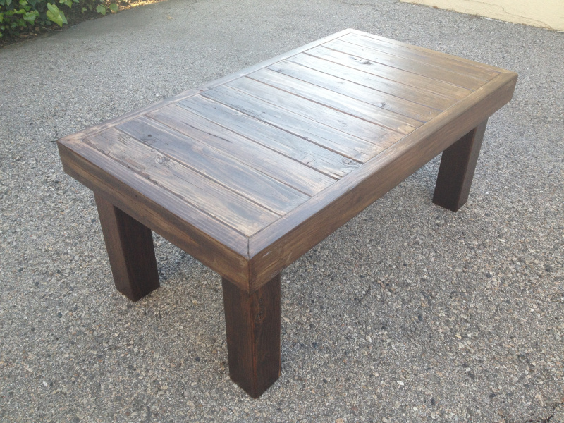 Image of: Patio Coffee Table Design