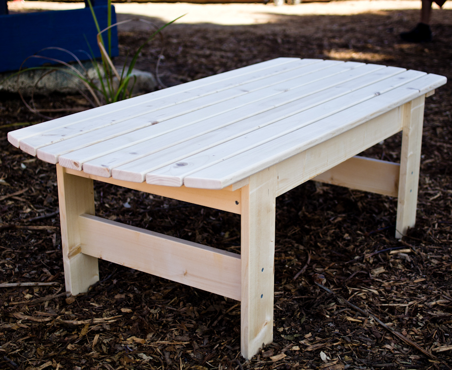 Image of: Patio Coffee Table Plans