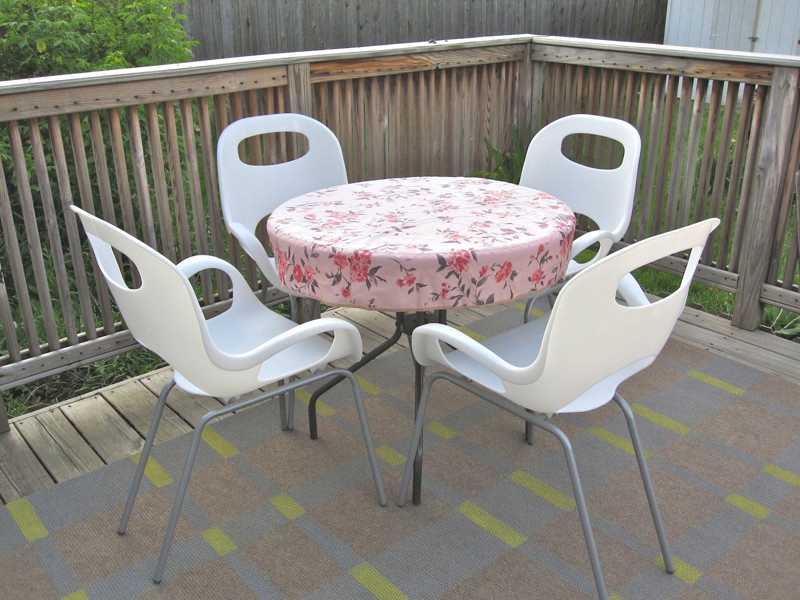 Patio table cover on a budget