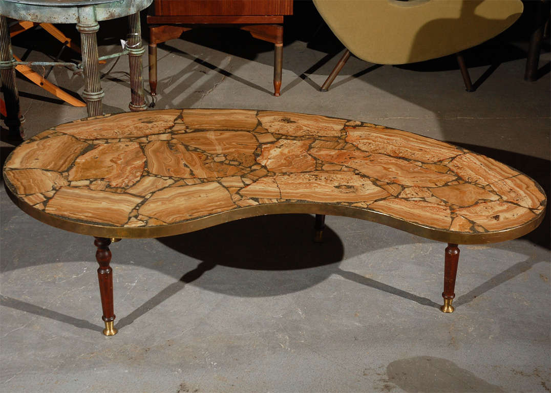 Image of: Petrified Wood Side Table Curve