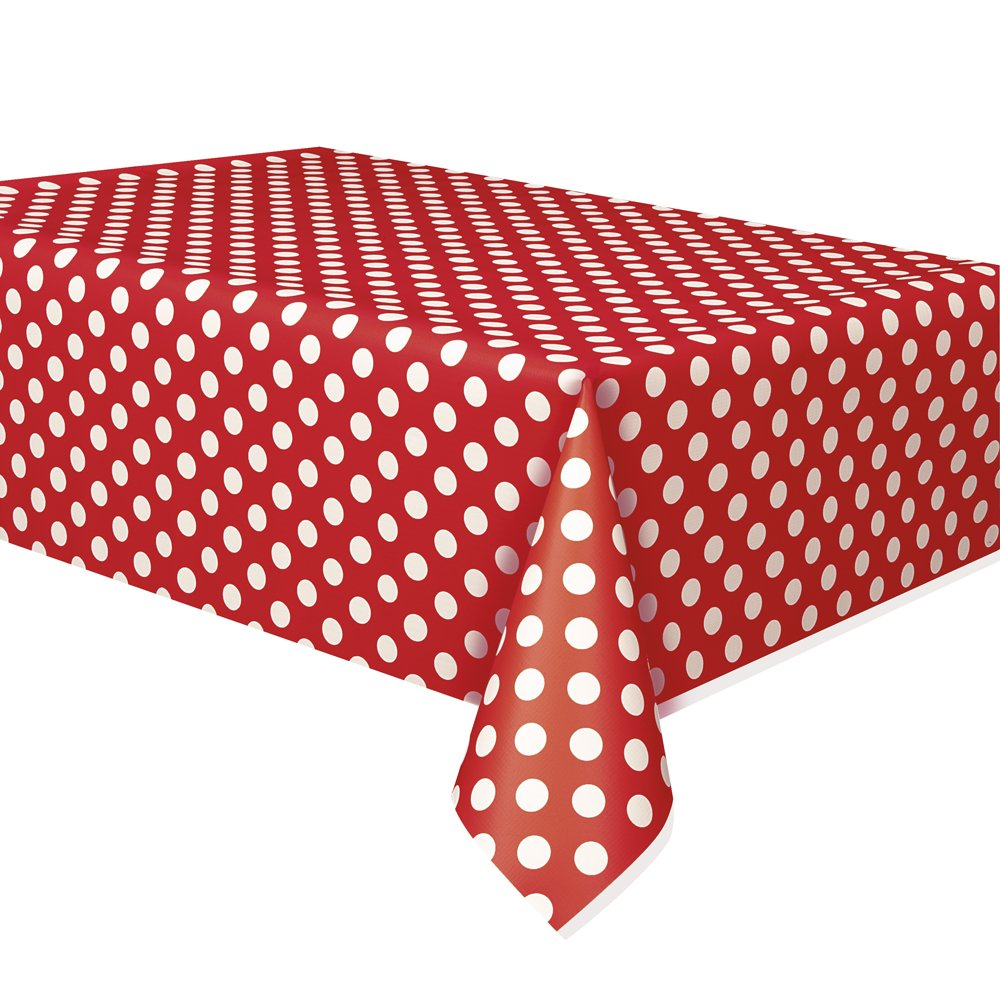 Image of: Polka dot patio table cover