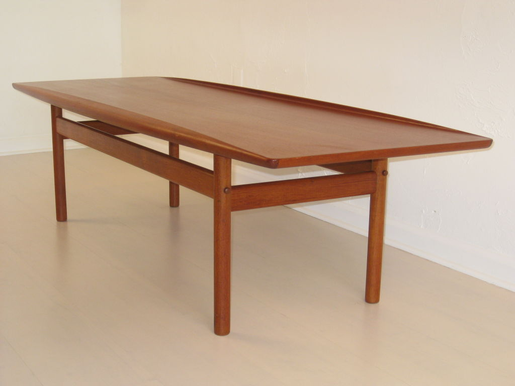 Image of: popular teak coffee table