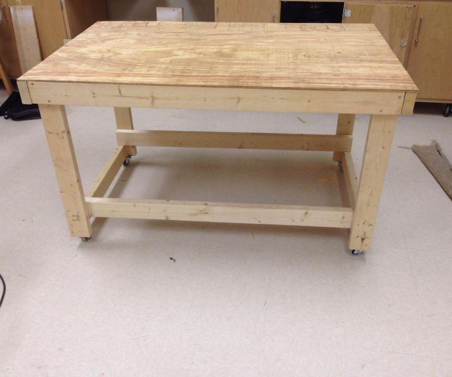 Image of: Portable Workbench On Wheels