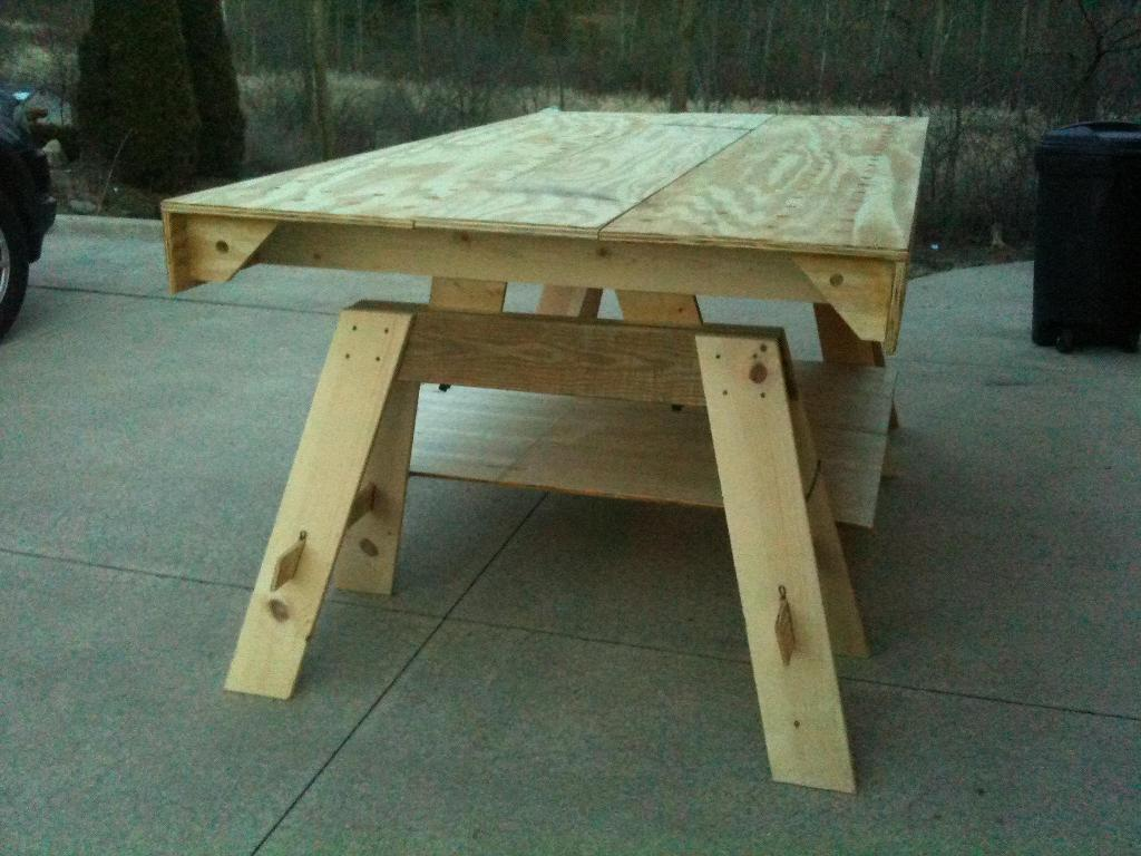 Image of: Portable Workbench Plans