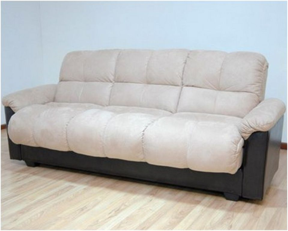Image of: Primo Ara Convertible Futon Sofa Bed With Storage