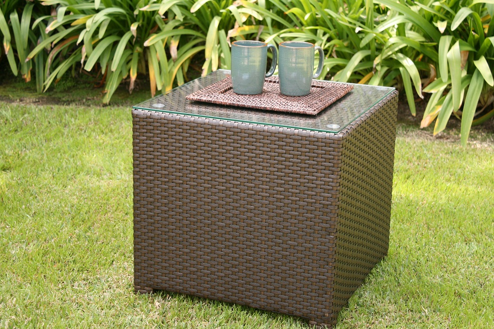 Picture of: Rattan Coffee Table Square Shapes