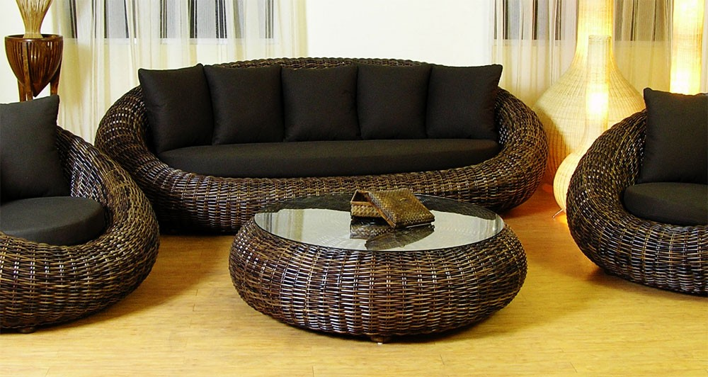 Image of: Rattan Coffee Table Type