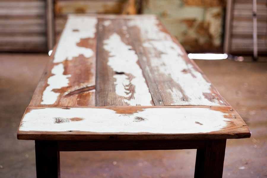 Picture of: reclaimed wood farm table color