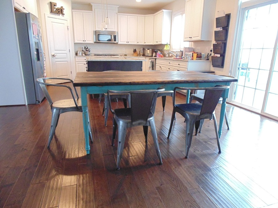 Picture of: reclaimed wood farm table sets
