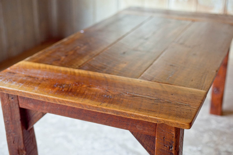 Picture of: reclaimed wood farm table texture
