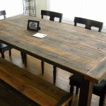 Reclaimed Wood Farm Table And Bench