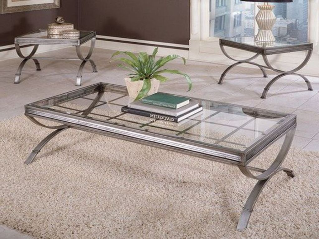 Picture of: reclaimed wood and stainless steel coffee table