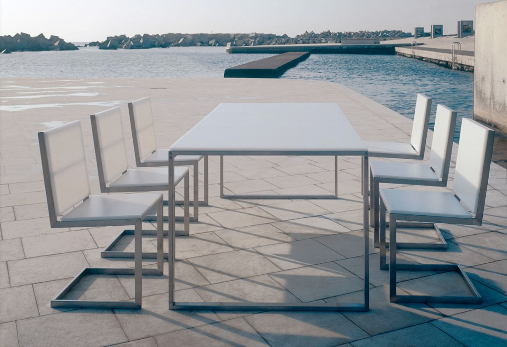Image of: Rectangular Patio Table Set