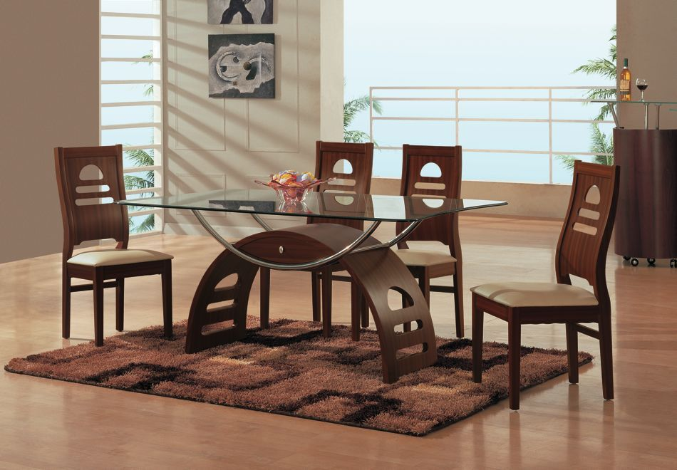 Picture of: Rectangular glass dining room table sets