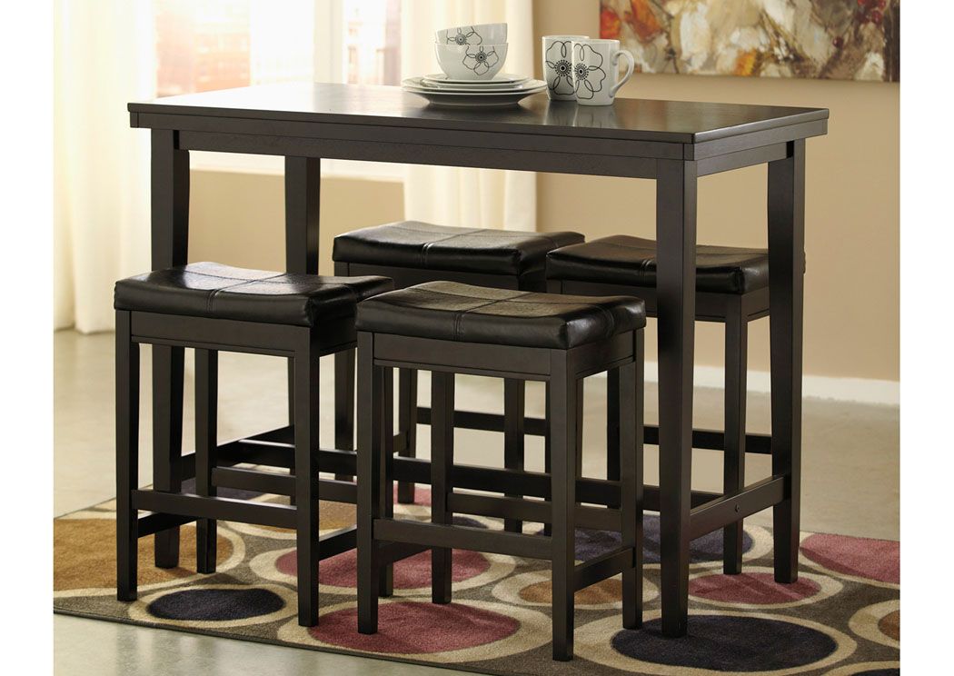 Picture of: Round Dining Table with Leaves Bar Stool
