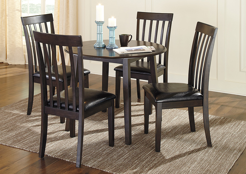 Picture of: Round Dining Table with Leaves Black Color