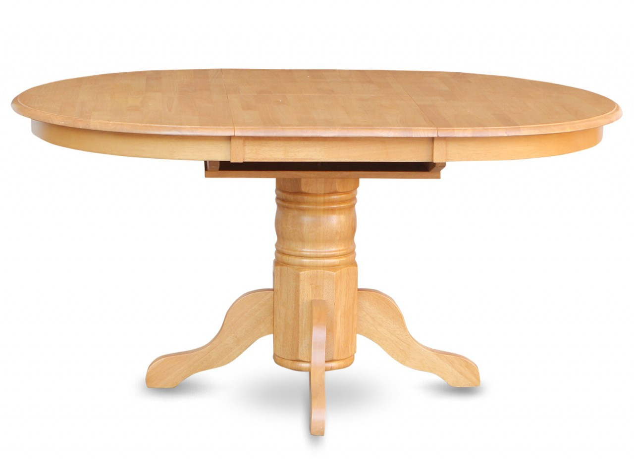 Picture of: Round Dining Table with Leaves Oak