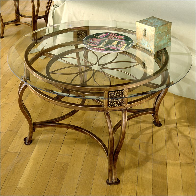 Picture of: Round Glass Coffee Table Decorations