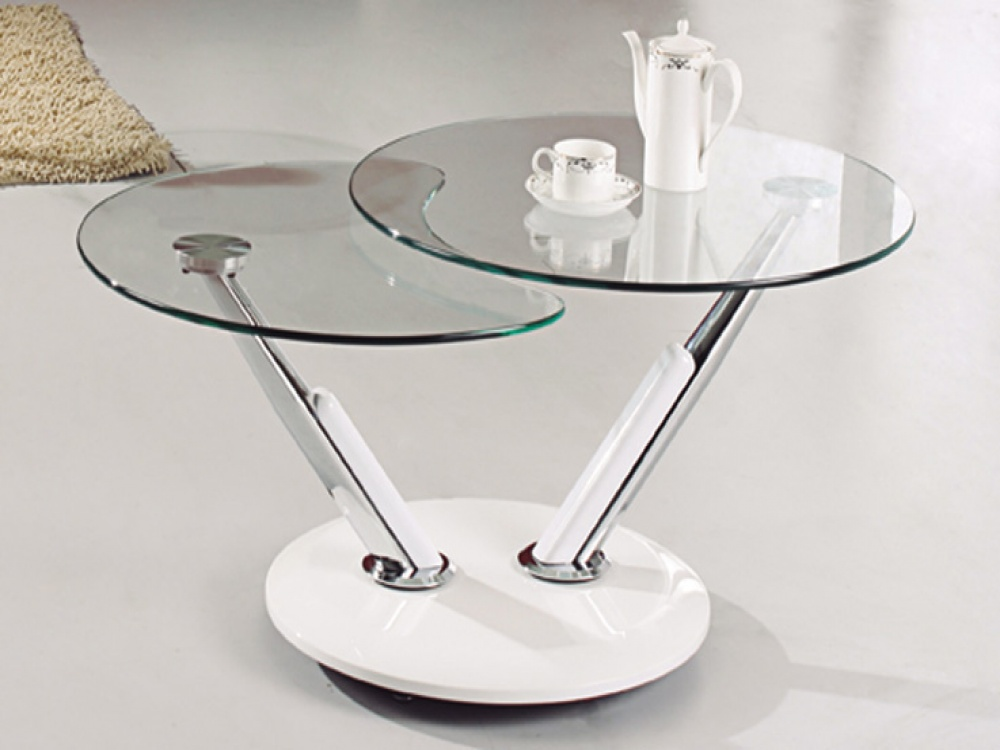 Picture of: Round Glass Coffee Table