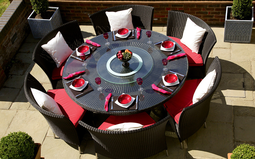 Picture of: Round Outdoor Patio Dining Table