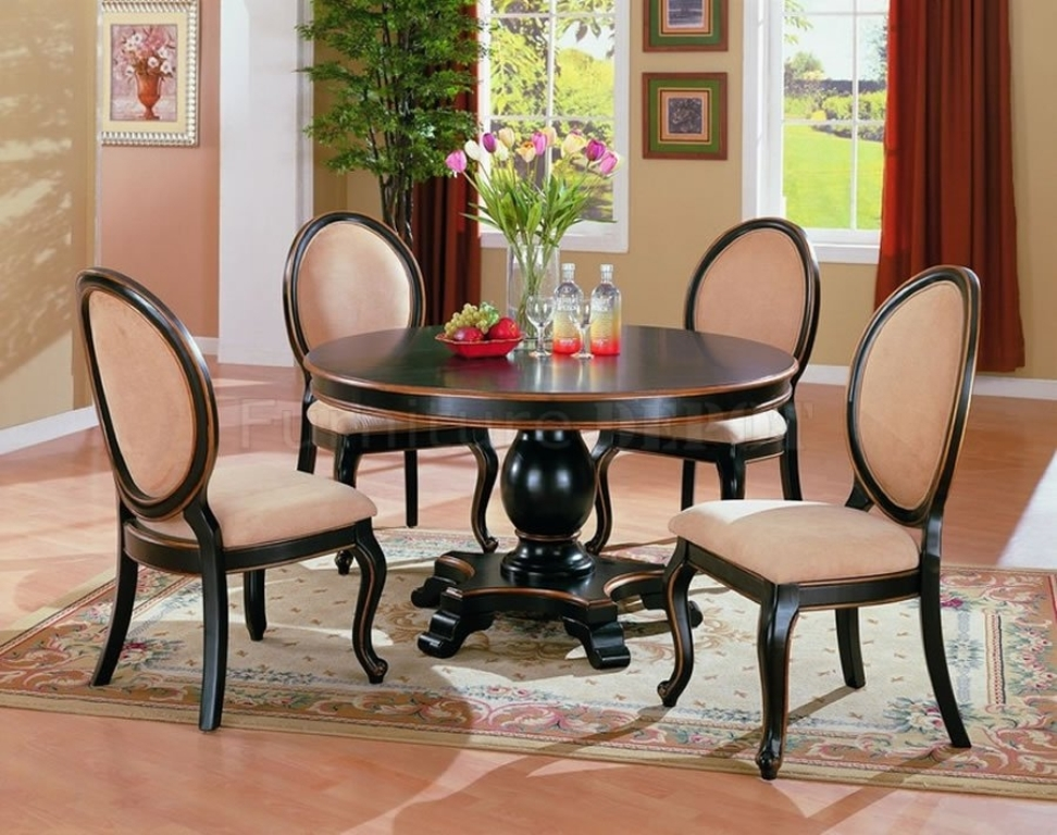 Picture of: Round Table Dining Room Sets Beige