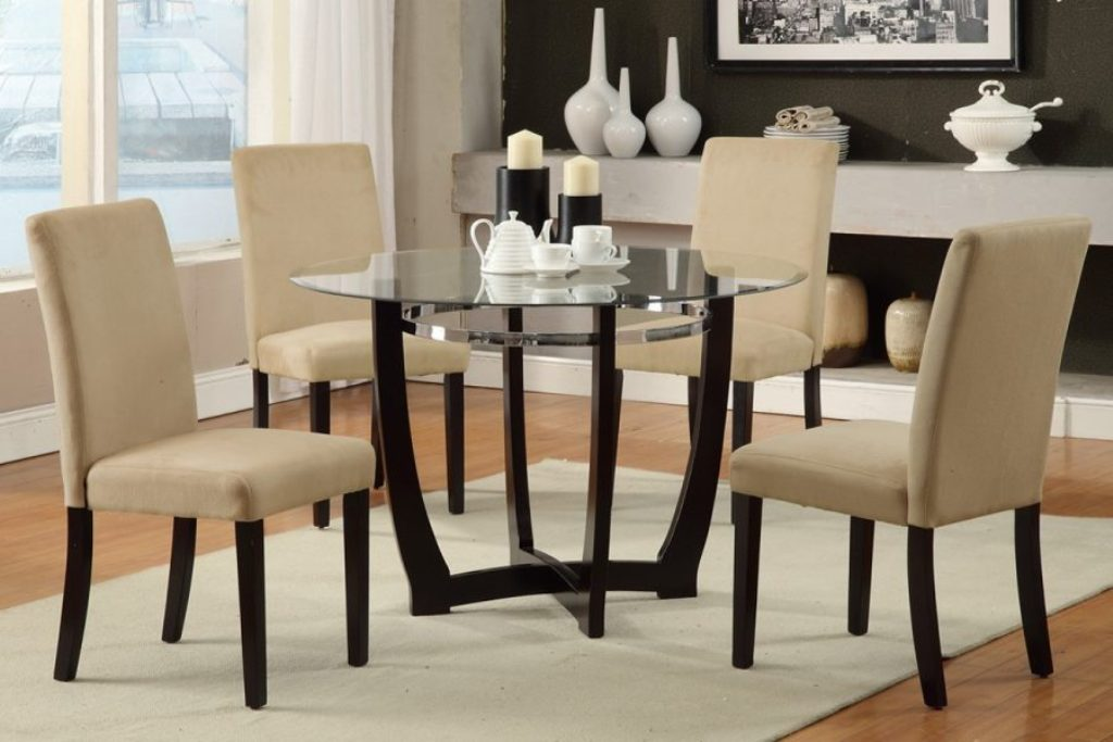 Image of: Round Table Dining Room Sets Counter Height
