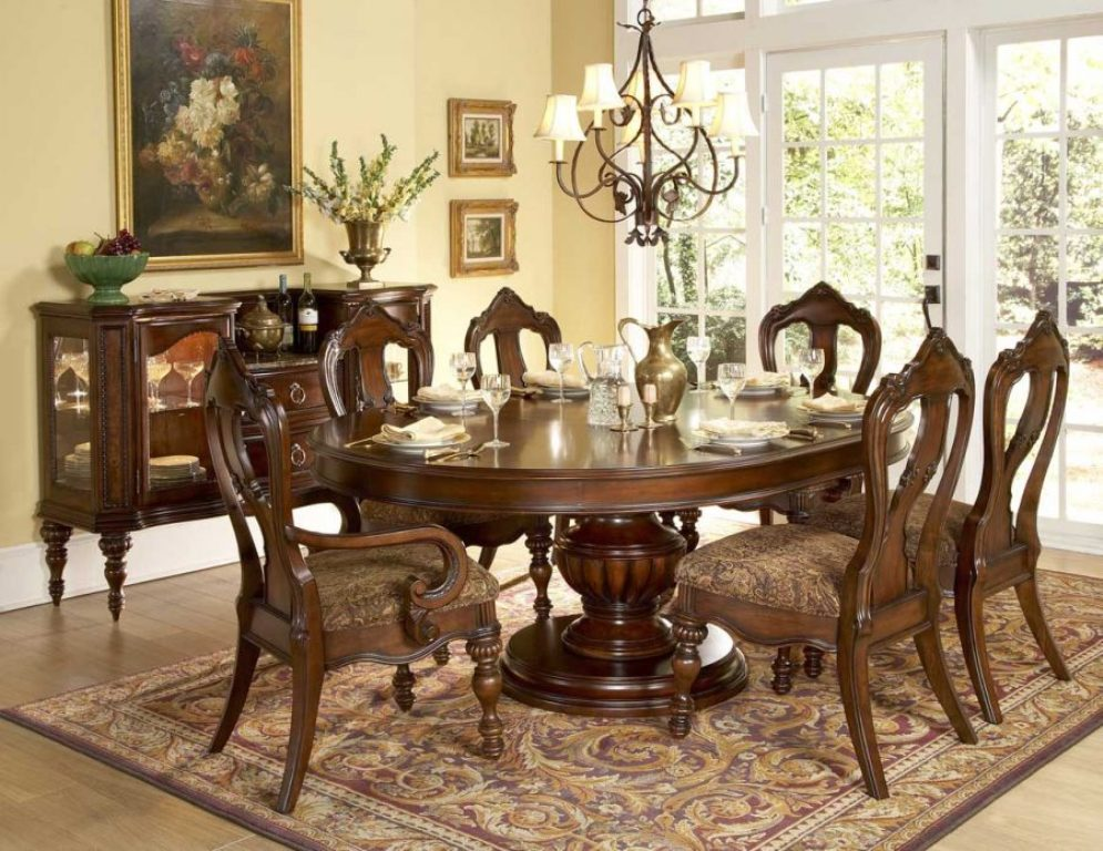 Image of: Round Table Dining Room Sets Ideas