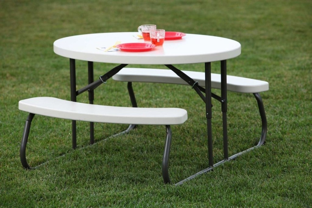 Image of: Round Folding Table Costco