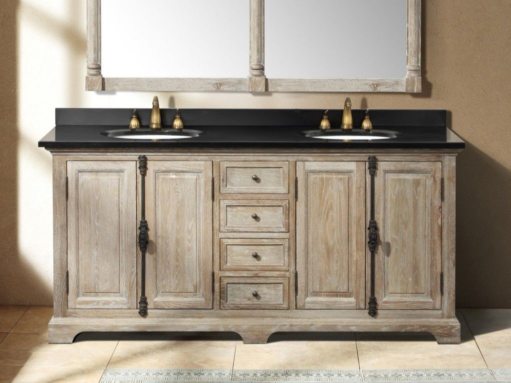 Rustic 72 Bathroom Vanity Double Sink