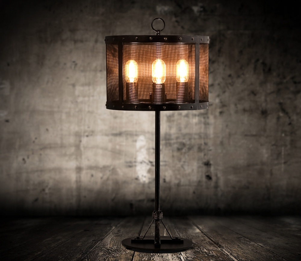 Picture of: Rustic Wrought Iron Table Lamps