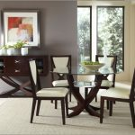 Rustic Glass Dining Room Table Sets