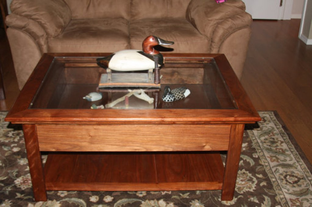 Image of: Shadow Box Coffee Table Square