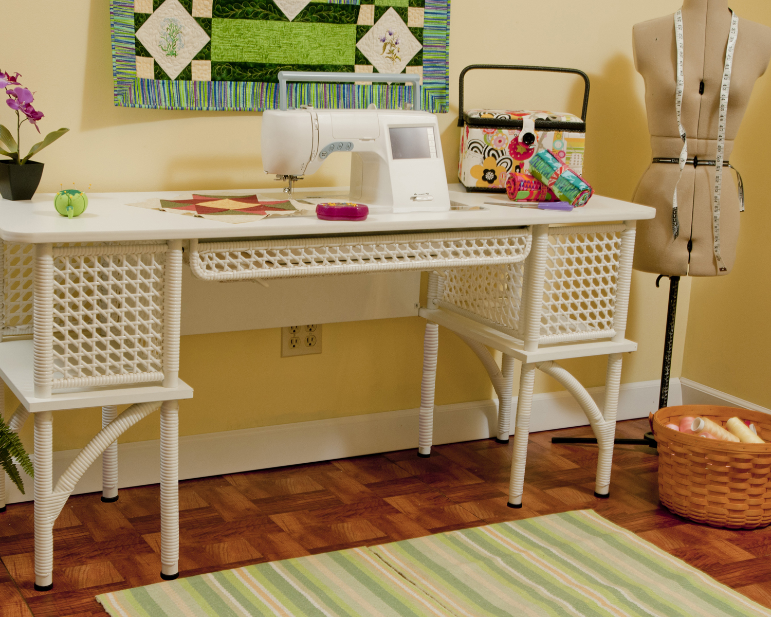 Picture of: Simple Craft Table with Storage