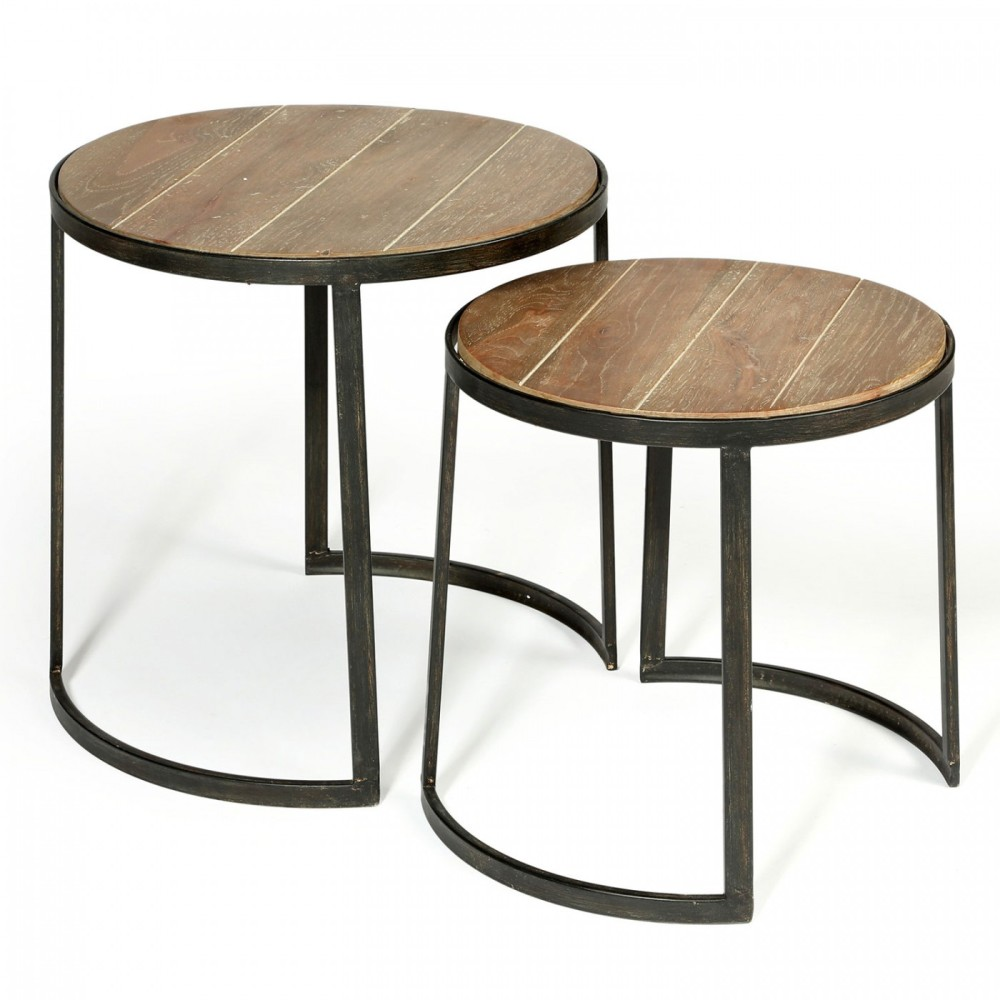 Image of: Simple Round Nesting Tables