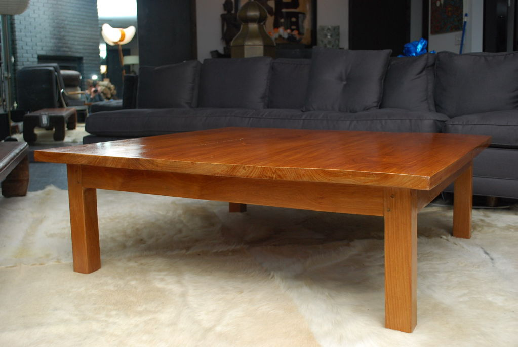 Picture of: simple teak coffee table ideas